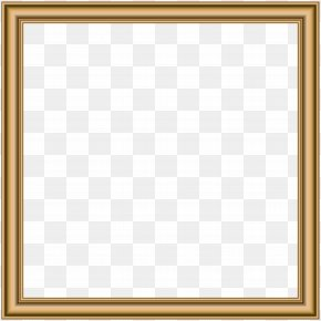 Gold Border Frame Transparent Image - Picture Frame Square Text Area Pattern PNG