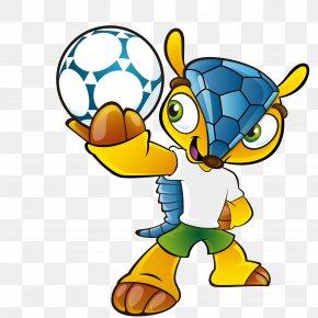 World Cup Mascot Vector Material - 2014 FIFA World Cup Arena Pernambuco FIFA World Cup Mascot Armadillo PNG