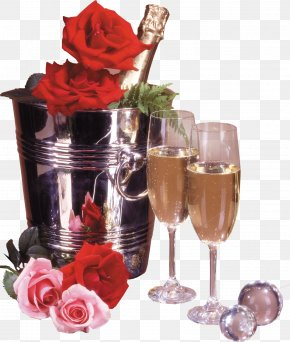 Champagne - Happy Birthday To You Wish Flower Bouquet Party PNG
