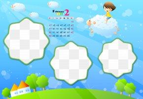 Calendar Template - Childhood Nelumbo Nucifera Wallpaper PNG