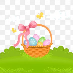 Vector Easter - Easter Bunny Wedding Invitation Easter Basket PNG