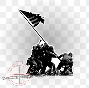 Iwo Jima - Raising The Flag On Iwo Jima Battle Of Iwo Jima Marine Corps War Memorial Mount Suribachi Normandy Landings PNG
