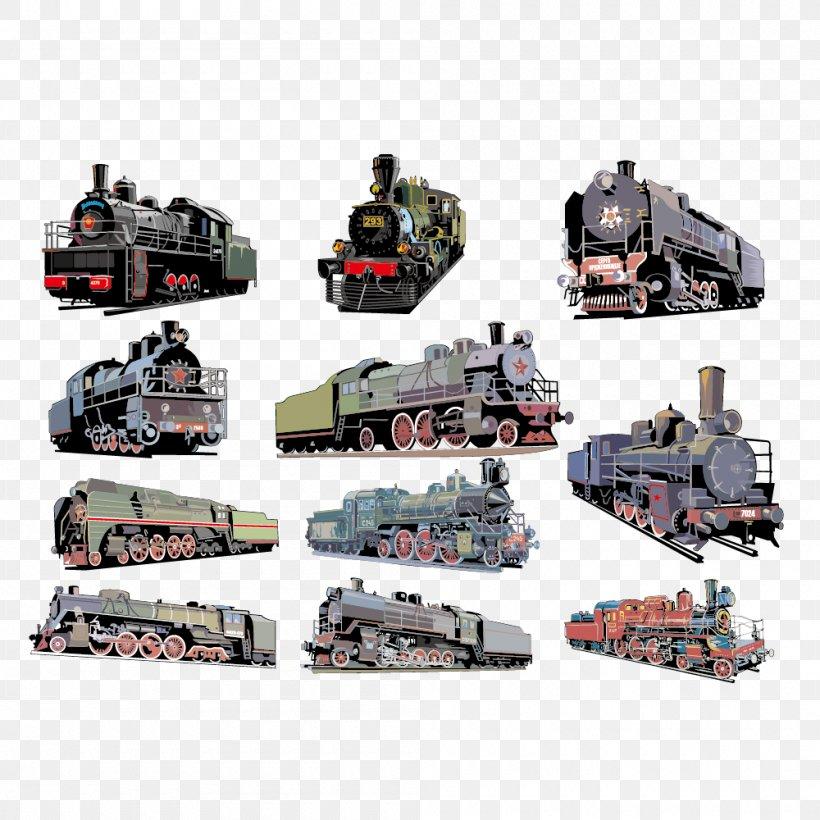 Train CorelDRAW Steam Locomotive, PNG, 1000x1000px, Train, Cdr, Coreldraw, Machine, Military Download Free