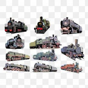 Vintage Steam Train Creatives - Train CorelDRAW Steam Locomotive PNG