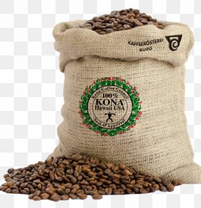 Kona Hawaii - Coffee Bag Gunny Sack Hessian Fabric PNG