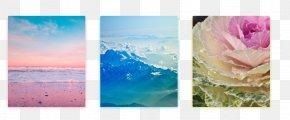 Natural Scene - Color Gradient Design Pantone Blue PNG