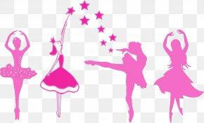 Dancer Magenta - Pink Ballet Dancer Silhouette Dance Magenta PNG