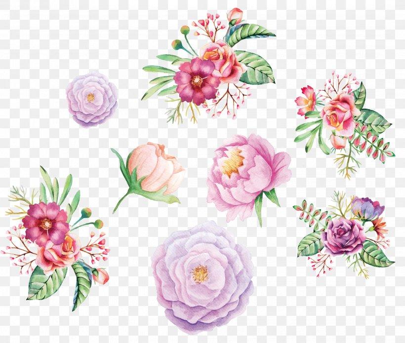 Watercolor Painting Flower Floral Design, PNG, 2166x1836px, Flower, Artificial Flower, Cut Flowers, Flora, Floral Design Download Free