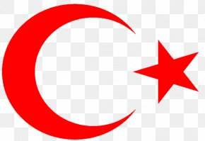 Flag - Flag Of Turkey Star And Crescent National Flag PNG