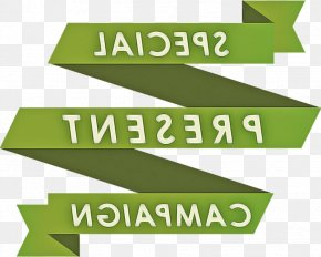 Label Rectangle - Green Text Font Logo Line PNG