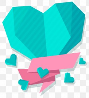 Blue Love Text Decoration Box - Love Heart Wallpaper PNG