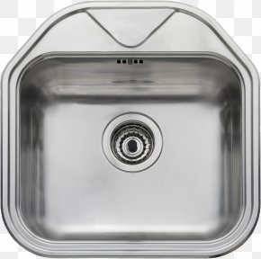 Sink - Sink Stainless Steel Kitchen Bowl Tap PNG
