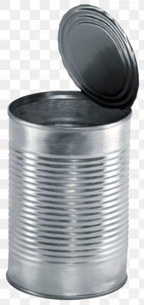 Silver Trash - Tin Can Canning Beverage Can Aluminum Can PNG