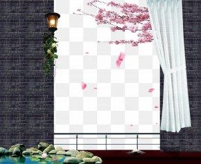 Real Estate Ad Elements Brick Wall - Wall Brick Real Estate Advertising PNG