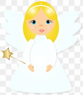 Christmas Angel Transparent Clip Art Image - Angel Wand Drawing Clip Art PNG