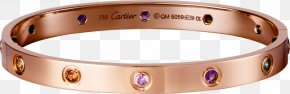 K Gold Color Diamond Ring - Love Bracelet Cartier Jewellery Bangle PNG