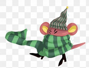 Vector Mouse Around The Scarf - Computer Mouse Scarf PNG