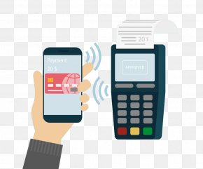 Vector Bank Card Payment - Feature Phone Mobile Payment Unified Payments Interface Cashless Society PNG