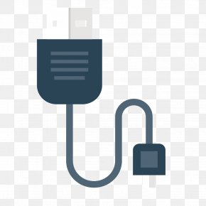 Vector USB Data Cable - USB Data Electrical Cable Computer File PNG
