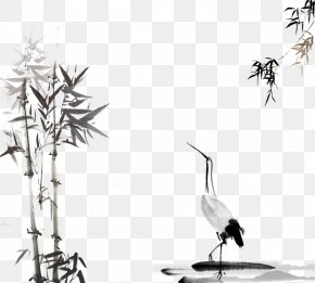 Chinese Painting Of Wind And Ink Painting - Ink Wash Painting Download PNG