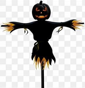 Halloween Pumpkin Scarecrow Transparent Clip Art - Scarecrow Halloween Clip Art PNG