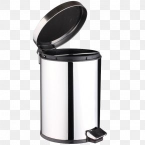 Foot Stainless Steel Trash Can - Waste Container Stainless Steel PNG