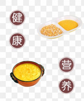 Healthy Nutrition Corn Grits - Grits Vegetarian Cuisine Health Nutrition PNG