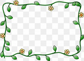 Plant Picture Frame - Watercolor Floral Frame PNG