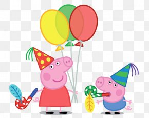 Pig - George Pig Daddy Pig Party Birthday PNG