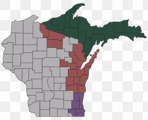 British County Maps - Upper Peninsula Of Michigan Map Decal Information Organization PNG