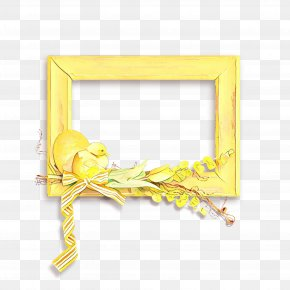 Picture Frame Yellow - Picture Frame PNG