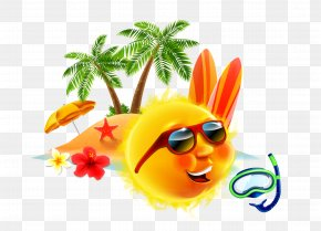 Beach Style - Summer Vacation Holiday Illustration PNG