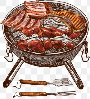 Vector Barbecue - Barbecue Grill Spare Ribs Barbecue Sauce PNG