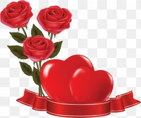 HEART FLOWER - Rose Flower Heart Valentine's Day PNG