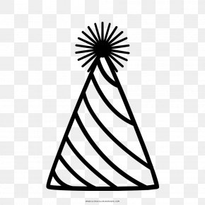 Hat - Drawing Party Hat Coloring Book PNG