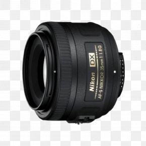Camera Lens - Nikon AF-S DX Nikkor 35mm F/1.8G Nikon DX Format Nikon F-mount Camera Lens PNG