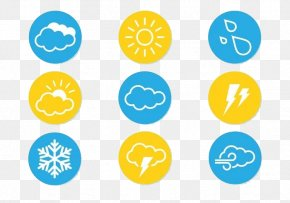 Vector New Weather Icon Sun Snowflakes - Weather Forecasting Wind Icon PNG