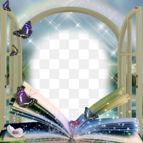 Beautiful Book Butterfly Frame - Picture Frame PNG