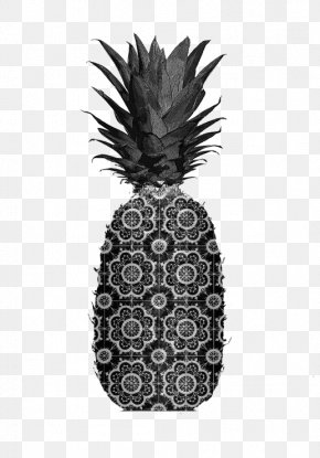 Black And White Pineapple - Poster Black And White Plakat Naukowy Dxe9coration Photography PNG