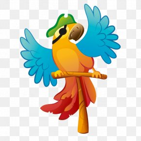 Pirate Parrot - Sticker Piracy Wall Decal Child PNG