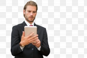 Job Tablet Computer - Chin White-collar Worker Formal Wear Businessperson Suit PNG