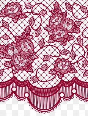 Transparent Lace With Roses Decoration Picture - Lace Wig Color Appliqué Lace Hair PNG