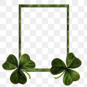 Clover Frame - Ireland Saint Patricks Day Shamrock Clover Holiday PNG