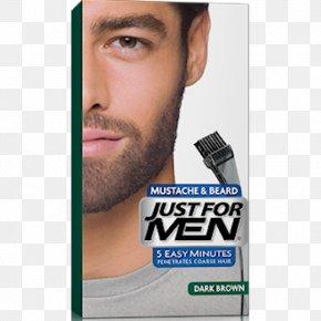 Beard - Just For Men Hair Coloring Facial Hair Beard Moustache PNG