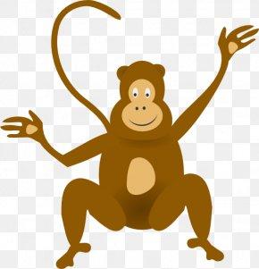 Cartoon Monkey Clipart - Monkey Jungle Baboons Baby Monkeys Clip Art PNG