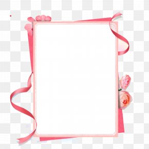 Pink Ribbon Border - Pink Ribbon Picture Frame PNG