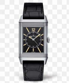 Jaeger-LeCoultre Watches Silver Black Male Watch - Jaeger-LeCoultre Reverso Watch Horology Rolex PNG