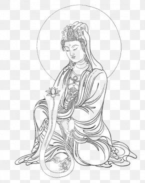 Buddha,3 - Guanyin Bodhisattva Gongbi Thangka Buddharupa PNG