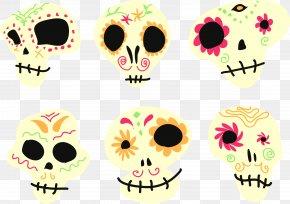 Flower Skull Vector - Euclidean Vector Clip Art PNG