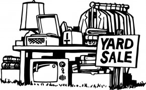 Garage Sale Picture - Garage Sale Sales Free Content Black And White Clip Art PNG